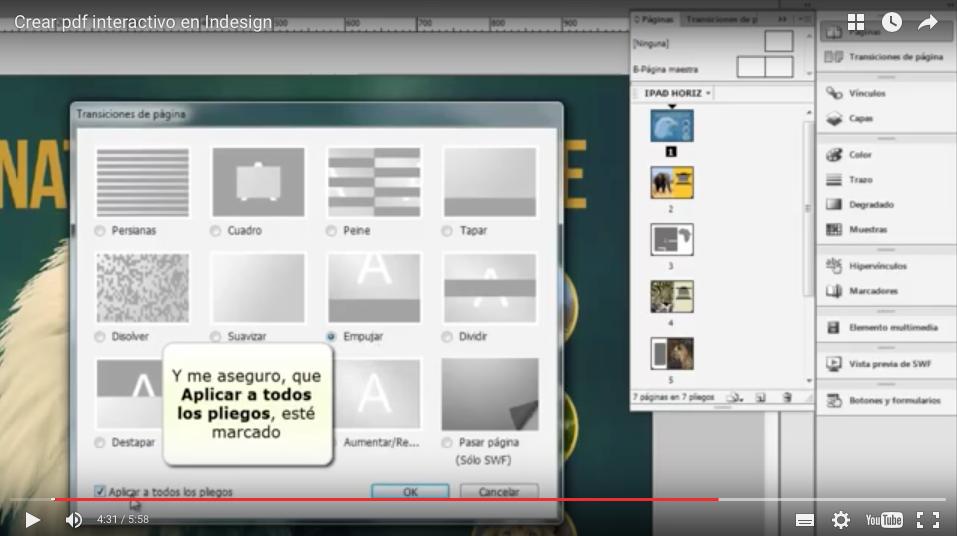 Cómo hacer un pdf interactivo en InDesign